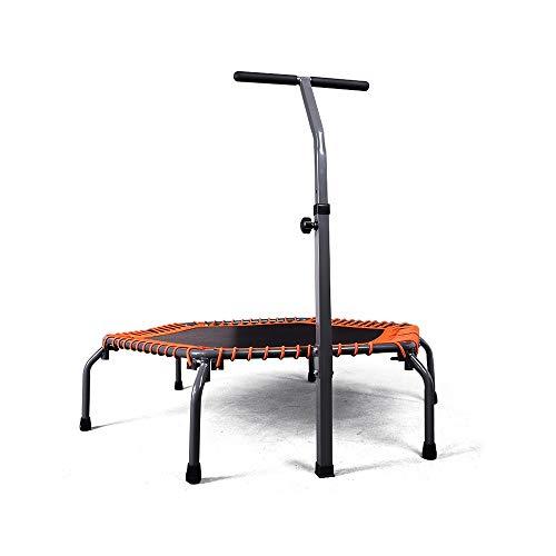 ZXQZ Trampolines Fitness Trampoline de Sport intérieur pour Enfants de la Maison -50'avec lit de Rebond Trampoline avec poignée Stable pour Barre de Maintien et Corde Trampoline D'intérieur