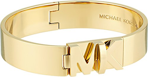 Michael Kors Womens Iconic Hinged MK Logo Bangle Bracelet