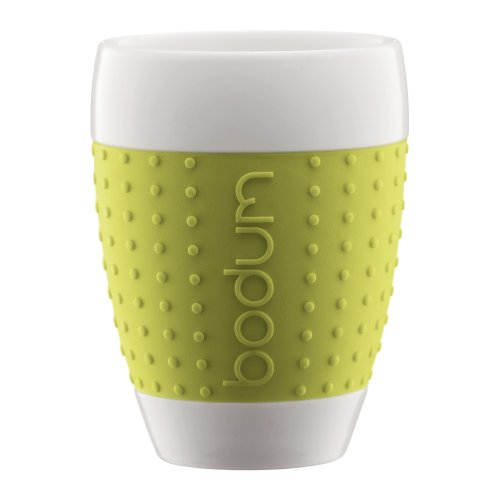 Bodum 11156-565 Pavina 2 Stück Tasse, mittel, 0,4 L, Porzellan