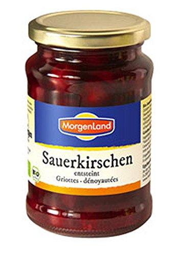 3er-SET Morgenland Bio Sauerkirschen entsteint im Glas 370ml(195g Abtropfgewich