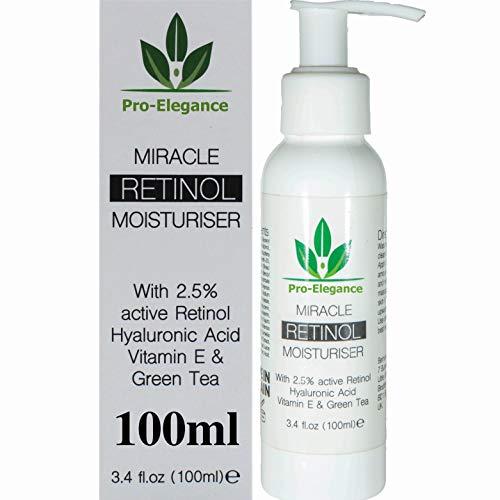 Retinol Crema Humectante para cara y ojos zona con 2,5%