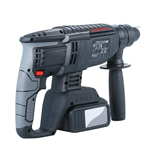 Rechargeable Brushless Cordless Rotary Hammer Drill, Electric Hammer Impact Drill Brushless Motor