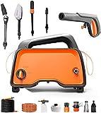 Nettoyeur haute pression, 1200W 90bar portable machine à laver électrique lumière électrique, voiture / cour / machine de nettoyage terrain