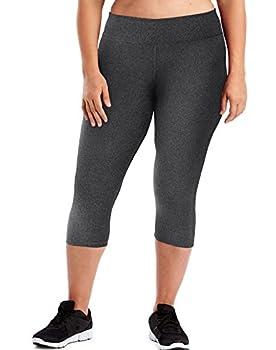 Just My Size Women s Plus Size Active Stretch Capri Granite Heather 5X
