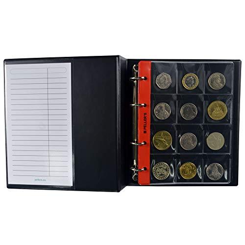 PELLER'S Álbum de colección M, para 186 Monedas de tamaño Mix: Grande,...