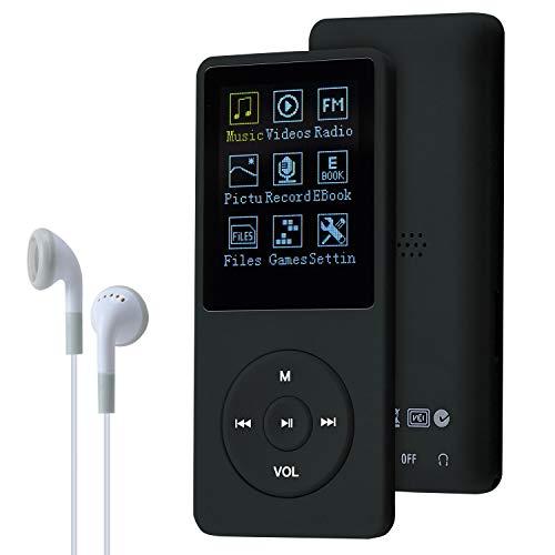 COVVY Slim Music Player 8GB portatile Lossless Sound 70 ore di schermo MP3 supporta fino a 64 GB (Nero)