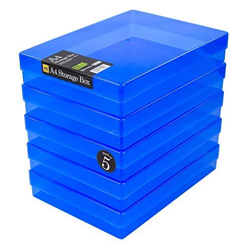 WestonBoxes - Caja de Almacenamiento A4...
