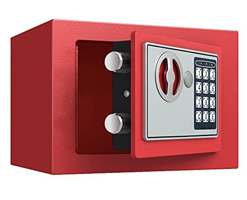 KHLRDK Caja Fuerte, Caja Fuerte Seguridad El Hogar Lujo con Teclado Digital, Cajas Fuertes Gabinete para El Hotel Oficina Casa - Documentos Seguros Joyas Objetos Valor