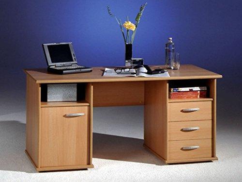 Schreibtisch COMPUTERTISCH BÜRO PC-Tisch Home Office BUCHE NEU