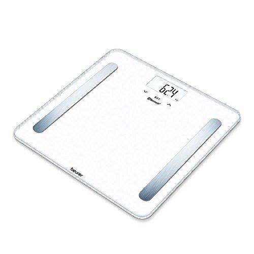 Beurer BF 600 Pure White Bilancia Diagnostica con Connettivita Bluetooth, bianco, lcd