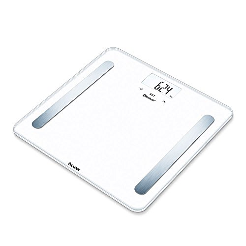Beurer BF 600 Pure White Bilancia Diagnostica con Connettivita Bluetooth, bianco, lcd