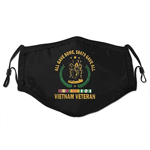 Mundschutz Vietnam Veteran All Gave Some 58 479 Gave All Face Cover Mouth Cover Mouth Scarf Face Covering Washable Reusable with Replaceable Filter,M