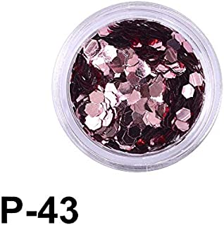 2019 Nuevos Estilos 12 Colores Nuevo Mini Diseño Hexagonal Nail Art Decoraciones Moda DIY Etiqueta para Gel Polish Nail Glitte P43