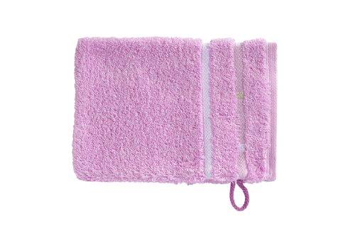 Vossen Quadrati Uni Waschhandschuhe 3er Set Größe: 22 x 16 cm Farbe: 023 / flieder / weiß (023)