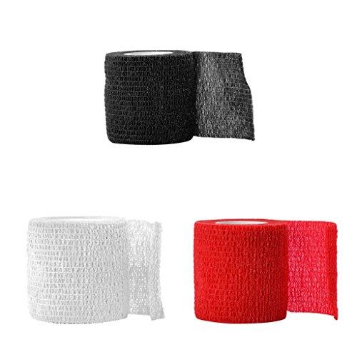 Sharplace 3pcs Tissus non tissés roll souple pansement bandage pansements adhésifs, Bandage auto-adhésif élastique, 5x5x5cm / 1.97x1.97x1.97inch
