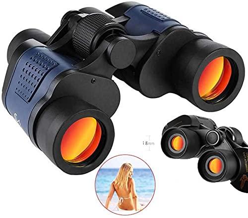YANJ Binoculares 60x60 Gafas Impermeables de Alta Potencia con telescopio de Membrana roja coordinada Lente recubierta de múltiples Capas para Caza al Aire Libre Conciertos de observaci