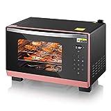 Mini horno de vapor de 25 l, temperatura ajustable a 40 230 ℃ y temporización inteligente, máquina para hornear y cocinar al vapor para el hogar, puerta de vidrio templado doble, tanque de agua de 1,1
