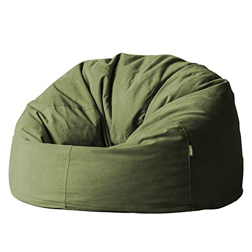 ZH1 Bean Bag Chair for Adults, Bean Bag Chair, Convertible Chair Folds from Bean Bag to Bed, Gaming Chairs for Adults, Kids Desk Chair,Green