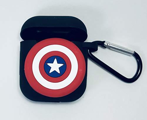 PFEISCO. Trade beschermhoes compatibel met Apple Airpods Case Superhelden Design Cartoon Bluetooth koptelefoon ontwerp vergelijkbaar met Marvel Ironman Batman Spiderman, 4,5 x 5,5 x 2,4 cm, Sterren 19