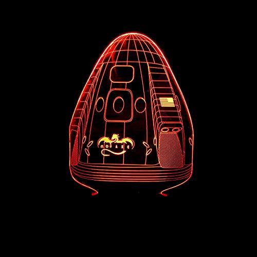 KangYD 3D Night Light The Capsule Model, LED Optical Illusion Lamp, E - Alarm Clock Base(7 Color), Room Lighting, Modern Decor, Kid Lamp, Gift for Friend, Colorful Change
