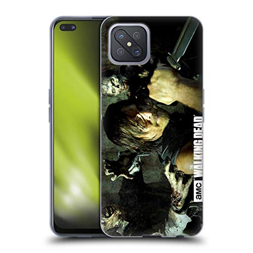 Head Case Designs Officially Licensed AMC The Walking Dead Daryl Knife Walkers and Characters Soft Gel Case Compatible with Oppo A92s
