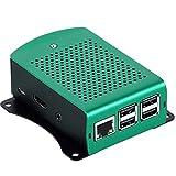 Kurphy per Raspberry Pi 3 Modello B Plus Custodia in alluminio Verde Argento Nero Custodia in Metallo Scatola RPI 3 con Raspberry Pi 3 Modello B