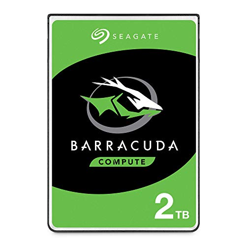 Seagate BarraCuda 2 TB HDD, interne Festplatte (6,35 cm (2,5 Zoll), 7 mm dünn, 5400 U/Min, 128 MB Cache, SATA 6 Gb/s, silber) Modellnr.: ST2000LMZ15, FFP