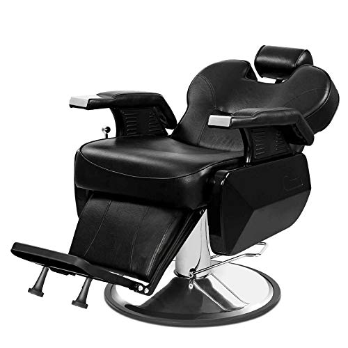 Barber Chairs, Semper Reclining Hydraulic Salon Chair for Hair Stylist, Heavy Duty Barbershop Salon Equipment