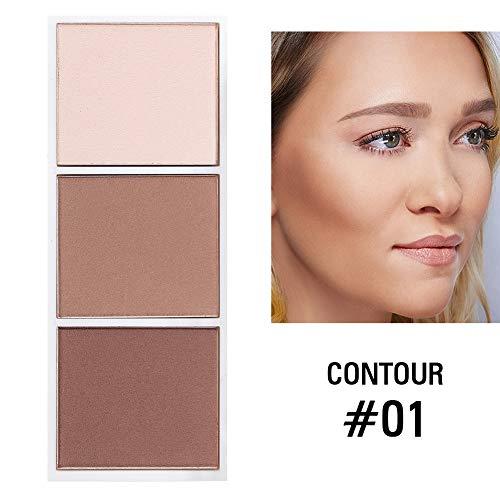QLQ 4 Colores de resaltado Paleta de Maquillaje de la Cara de Contorno Polvo Bronceador componen Colorete Paleta de cosméticos Profesionales Blush