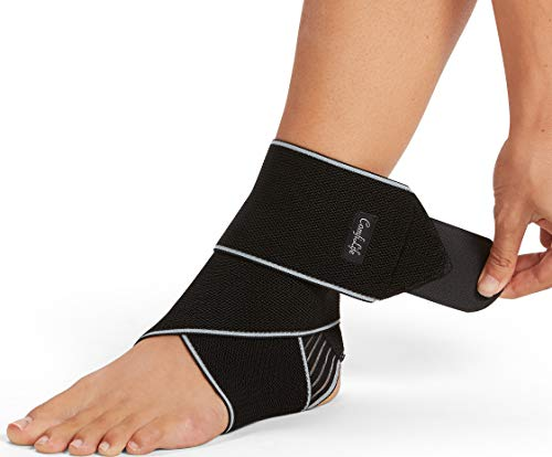 ComfiLife Ankle Brace for Men & Women – Adjustable Compression Ankle Support Wrap – Perfect Ankle Sleeve for Plantar Fasciitis, Achilles Tendon, Minor Sprains, Sports – Breathable, One Size Fits All