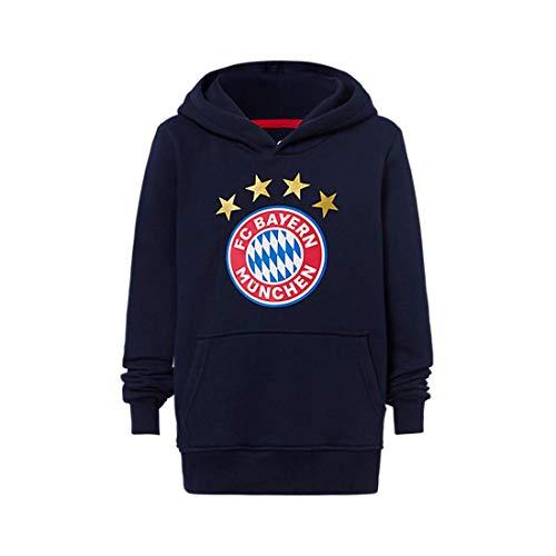 FC Bayern München - Hoodie Logo Navy Kinder (164)
