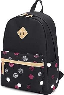 LuckyZ Women Canvas Backpack Leaf Printing School Bag Cute Laptop Bookbags