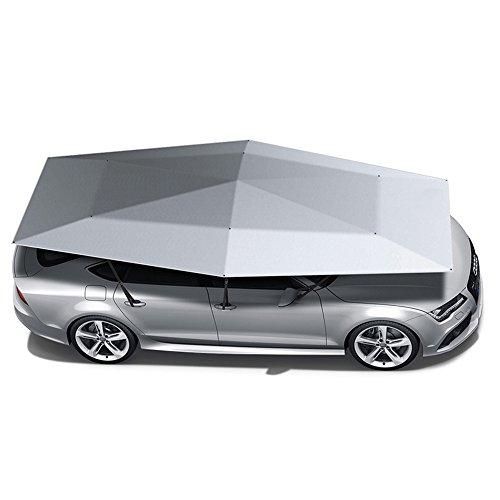 JL-Q Automatische Auto Zelt Mobile Carport Faltbare Tragbare Auto Schutz Auto Regenschirm Sonnenmarkise Abdeckung Regenschirm Dual Zweck (Silber),Silver