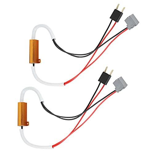 WAQU Decodificador LED Faro 2 uds LED Faro antiniebla decodificador de Resistencia de Carga antiparpadeo Cancelador de Error de Flash para H7