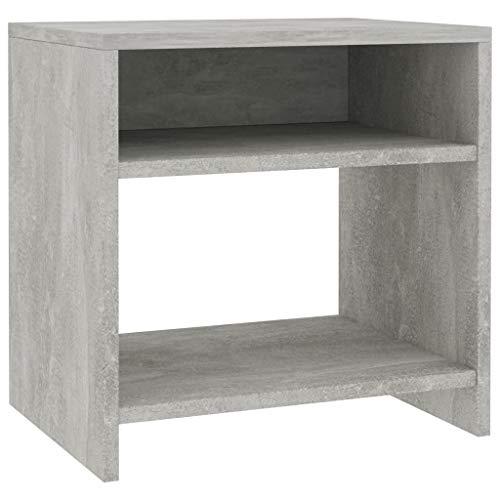 vidaXL - Mesita de noche para dormitorio, mesa auxiliar, mesa de teléfono, color gris hormigón, 40 x 30 x 40 cm, tablero aglomerado