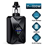 E Cigarette électronique, Cigarettes Électroniques Goblin 100w,E Cigs Batterie rechargeable 2000mah,Kit Vape énorme avec écran...