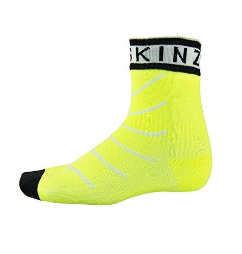 SealSkinz Unisex Erwachsene Socken Mid Length Waterproof, Gelb (Hi Vis Yellow/White/Black), 36-38 EU (Herstellergröße: S)