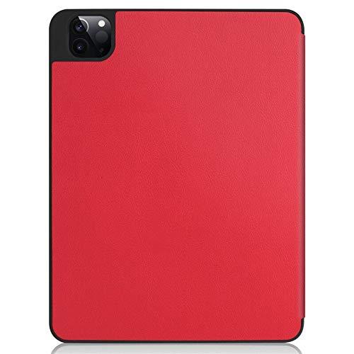 RZL Pad y Tab Fundas para iPad Pro 12 9 2020, Cubierta automática para la Tableta de Cuero PU para iPad Pro 12.9 4ª generación (Color : Red, Talla : For iPadPro12.9 2020)