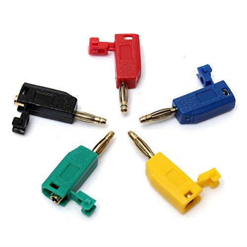 KUNSE 5 Kleuren 2 Mm Banaan Plug Connector Jack Speaker Versterker Test Probes Terminals Cooper
