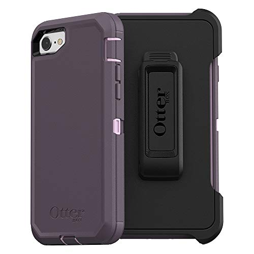 OtterBox DEFENDER SERIES Case for iPhone 8/7 (NOT PLUS) - Frustration Free Packaging - PURPLE NEBULA (WINSOME ORCHID/NIGHT PURPLE)