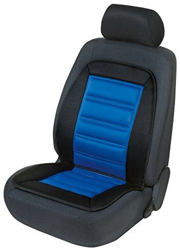 Walser 16591 Beheizbare Sitzauflage, Auto Sitzaufleger inkl. Sitzheizung, PKW Sitzkissen mit Heizung, Warm UP mit Thermostat in Schwarz/Blau