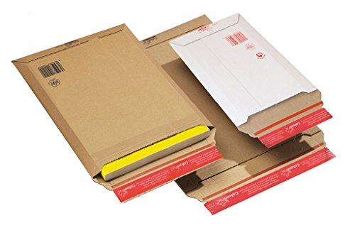 Versandtasche aus F-Welle, CP 010.13, Menge: 100 Stück, Farbe: braun, Maxibrief, Karton