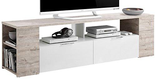 FMD Möbel Tabor 2 TV/Hifi-Element, Holz, sandeiche / weiß, 180 x 40 x 50 cm