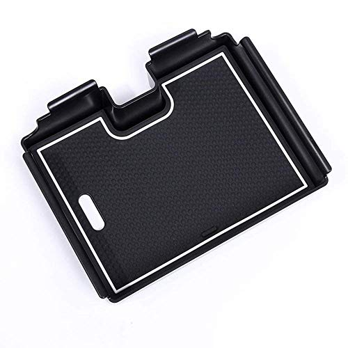 Accessoire Auto intérieur de véhicule, pour Evoque 2012-2017, boîte de Rangement d'accoudoir intérieur de Voiture Plateau de Gant de téléphone Plastique Noir, 1 pcs/Set