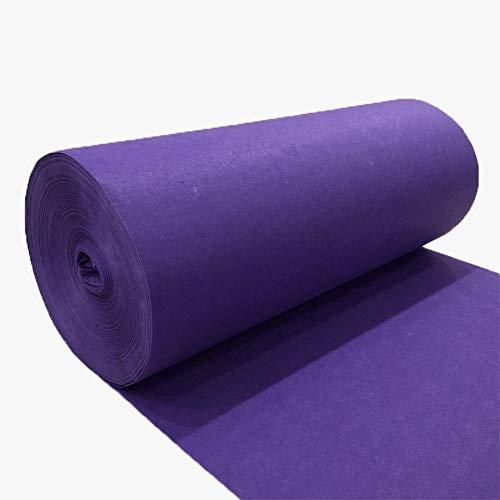 Boda Pasillo Corredor Alfombra Decoración Pasarela Alfombra Absorbente De Agua Antideslizante Personalizable JINRONG (Color : Violet, Size : 1 * 30m)