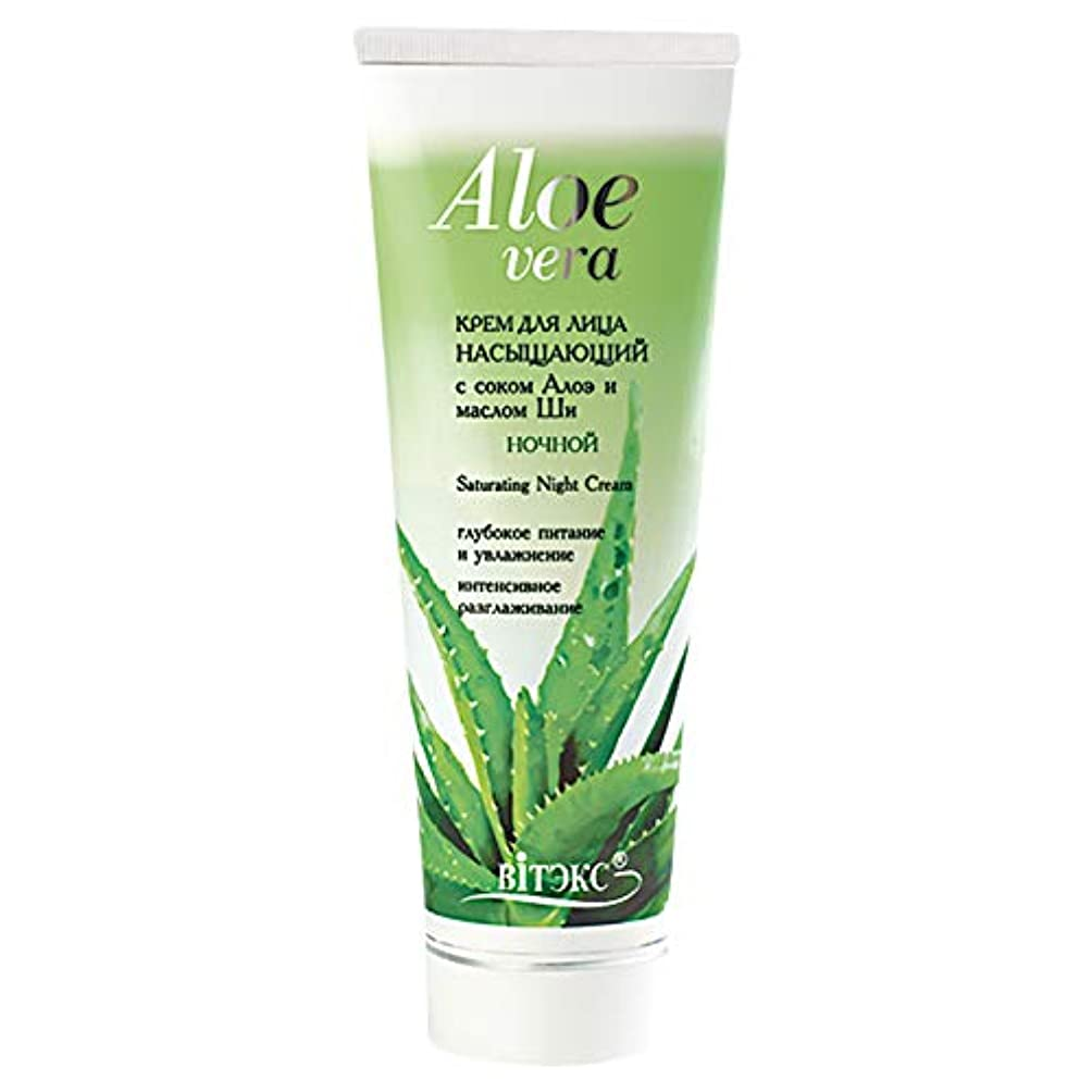 タイマー強風擬人化Bielita & Vitex   Aloe Vera Line   Saturating Face Night Cream 30+ for All Skin Types   Shea Butter   Aloe Juice   Sorbitol   Vitamins   75 ml