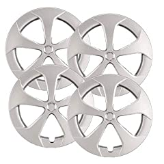 "These 15"" Silver Hubcaps are compatible with 2010 thru 2015 Toyota Prius - Not Universal fit! Strong, Well Built Retaining Clips These are truly the Highest Quality Heavy Duty ABS plastic Hubcaps Available Please refer to Amazon's fitment tool to ens..."