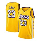 YBKT Camiseta para hombre, 23 James Baloncesto Uniforme Transpirable sin Mangas Deportivas, Fan Basketball Jersey Camiseta (S-xxl) amarillo-3-S