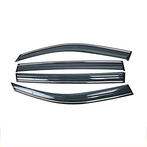 Qwldmj Für Subaru Forester 4. SJ 2013 2014 2015 2016 2017 2018 Autofenster Sonne Regenschirm Visier Schild Schutzabdeckung Verkleidung Rahmenaufkleber