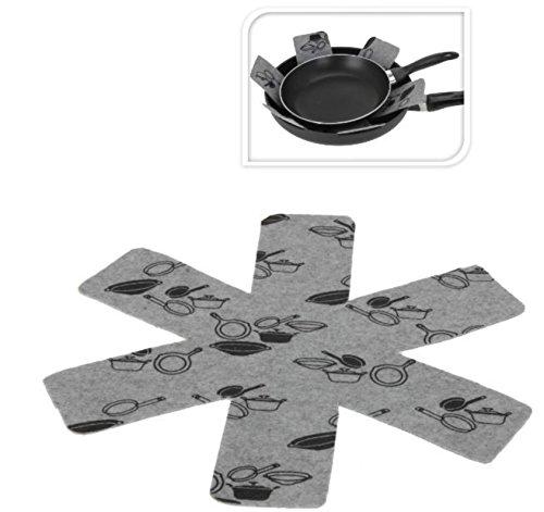 Pfannenschutz Pfannenschoner Topf und Pfannen Kratzschutz aus Filz 8 Stück Set